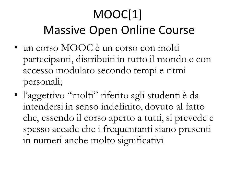 MOOC[1] Massive Open Online Course